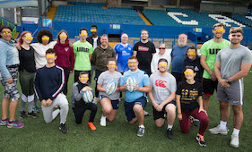 Cardiff Blues Community Foundation launch VI Rugby programme